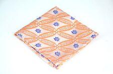 Lord R Colton Masterworks Pocket Square - Tangerine & Silver Showbiz Silk - New