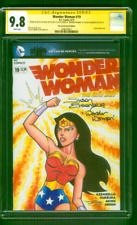 Wonder Woman 19 CGC 2XSS 9.8 Susan Eisenberg JUSTUS Original art Sketch