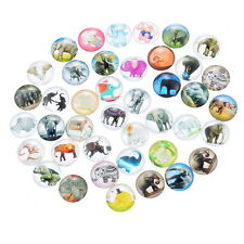 PD: 10 Mix Charm Elefant Rund Glascabochons Klebeperlen Klebesteine 12mm