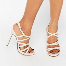 Faith Patternless Evening & Party Strappy, Ankle Straps Heels for Women