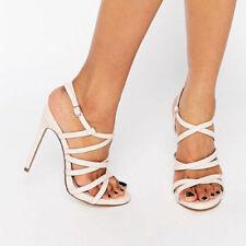 "Faith Very High Heel (greater than 4.5"") Patternless Heels for Women"