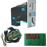 Multi Coin acceptor with USB Timer board KIT for Arcade Slot Vending Machine