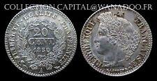20 centimes 1850A Cérès Oreille Haute (Rare en SPL) Côte SPL 150€ Argent/Silver