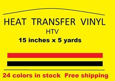 "Heat Transfer vinyl Neon Pink 15 "" x 5 yards  new Material HTV Free Shipping"