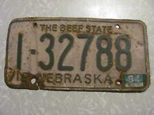 1964 NEBRASKA  LICENSE PLATE   FREE SHIPPING