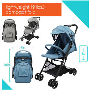 Foldable Baby Trolley Stroller Pushchair Pram Toddler Buggy with Rain Cover UK