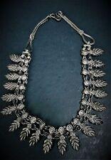 Bedouin Tribal Silver Antique Necklace Choker Yemen  Middle Eastern Jewelry