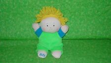 "Noodle Do's PETE Plush Stuffed BABY DOLL Yellow Hair Bean Bag 7"" tall Rare 1999"