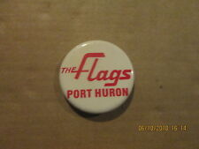 IHL Port Huron The Flags Vintage Defunct Logo Hockey Pinback Button