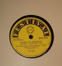 "TEX WILLIAMS 1950s AUSSIE 10"" 78 rpm FESTIVAL DW - 029 COUNTRY WESTERN - TALKIN"