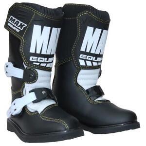 Wulfsport Max Kids Motocross Boots Off Road Motorbike Trials Youth Cub Black