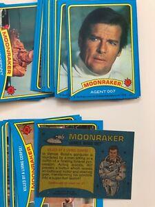 James Bond: Moonraker movie trading card base set single cards by Topps 1979