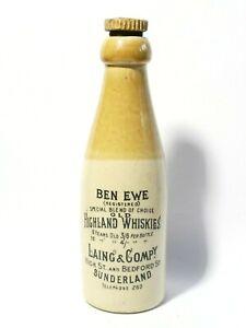 Ben Ewe Highland Whiskies Laing & Co. Sunderland Stone Bottle + Stopper
