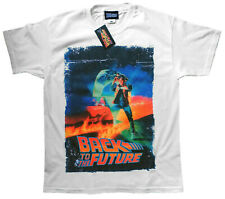 Back To The Future Vintage Poster T Shirt Official Marty McFly White SMLXLXXL