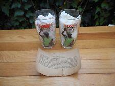 Vintage Drinking Glasses Elizabeth O' Neill Verner Flower Vendors Charleston Sc