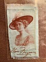 Vintage c1914 Elsie Ferguson Blue Cigarette Tobacco Silk Card