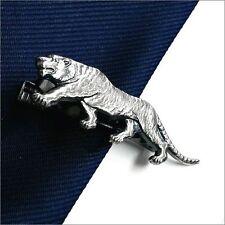 ISHOKUYA Tie Clip Tie Bar Tie Pin figure animal Tiger Silver Japan