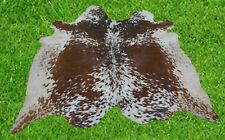 """New Cowhide Rug Hair On BROWN COW HIDE Area Rug (74"""" x 66"""")Animal Carpet 33.9 SF"""