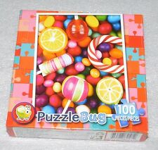 Colorful Candy Jigsaw Puzzle Lollipops 100 Pieces Puzzlebug 9x11 6+ Fruit
