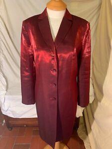 VTG Kasper & Company ASL Red Shiny Blazer Size 10 WE COMBINE SHIPPING