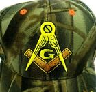 Mason Hat Cap Camo Orange Embroidered Lot of 2 Caps