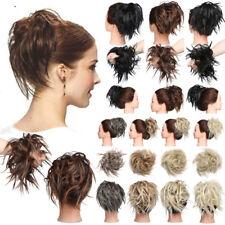 Premium Hair Bun Updo Tousled Scrunchie Wrap on Hair Piece Extension Messy Wavy