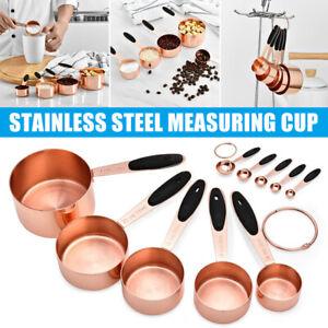 5pcs Measuring Cups / Spoon Set Stainless Steel Kitchen Baking Teaspoon NEW