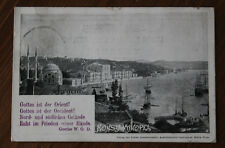 Original Ansichtskarte Konstantinopel Türkei 1898 Österreichische Post Levante