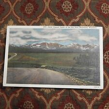 Vintage Postcard Snow Capped Peaks Of The Big Horn Mountains, Wyoming