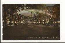 Manchester NH Elm Street Electric Arches 1910 Divided Back Post Card