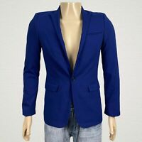 ASOS Super Skinny Fit Tailored Blazer Jacket 32 Men's Deep Royal Blue