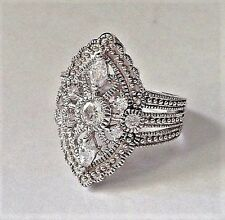 925 Sterling Silver Rhodium Plated Bella Luce Ring Size 7