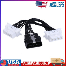 New listing Obd 2 16pin 1 to 2 Splitter Cable for Elm327 Car Diagnostic Scanner Tool
