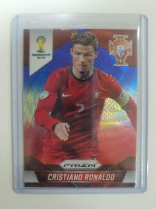 2014 Panini Prizm World Cup 161 Cristiano Ronaldo Blue Red Wave