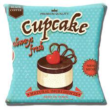 Cupcake Copricuscino 16x16 pollici 40cm stile vintage con SIGN OLD chiazzato