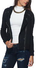 New $168 Free People Ring My Bell Jacket Hoodie Black SMALL