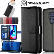 More details for for motorola moto e7 / e7i power premium flip leather wallet case cover + stand