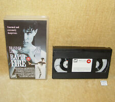 Rapid Fire 1992 Rare Collectable Martial Arts VHS Video BRANDON LEE NICK MANCUSO