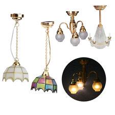 1//12 LED Luz Lámpara De Plástico De Casa De Muñecas En Miniatura Modelo Decoración