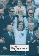 FRANZ BECKENBAUER Signed 12x8 Photo Display GERMANY World Cup LEGEND COA