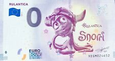 BILLET 0 ZERO EURO SOUVENIR RULANTICA SNORRI  2019-1