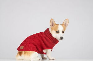 Red Cable Knit Dog Sweater By Bee & Willow Home