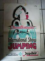 Int. Show  Jumping/Pferdesport - Poster/Werbeplakat 1984 -  44x63cm