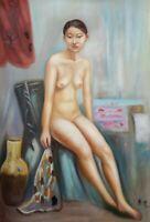 ZHANG XIN Ölgemälde signiert Öl Leinwand Gemälde oil canvas painting ca 60x90 cm