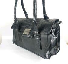 Fiorelli Large Black Reptile Print Faux Leather Handbag 34cm X 24cm New