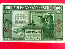 WWI Money of Germany Occupied Latvia, Lithuania, Poland.1000 Mark Banknote.1918.
