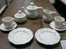Pfaltzgraft Childs Tea Set Tea Rose Tea Pot Sugar Creamer Cups Saucers Plates