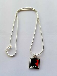 """ROUSH PERFORMANCE SILVER NECKLACE WITH BIG """"R"""" LOGO SOLD EXCLUSIVELY HERE"""