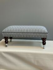 Footstool upholstered in a top quality fabric