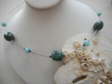 Silpada Sterling Silver Green Chalcedony Chrysocolla  Necklace  N1888 56332